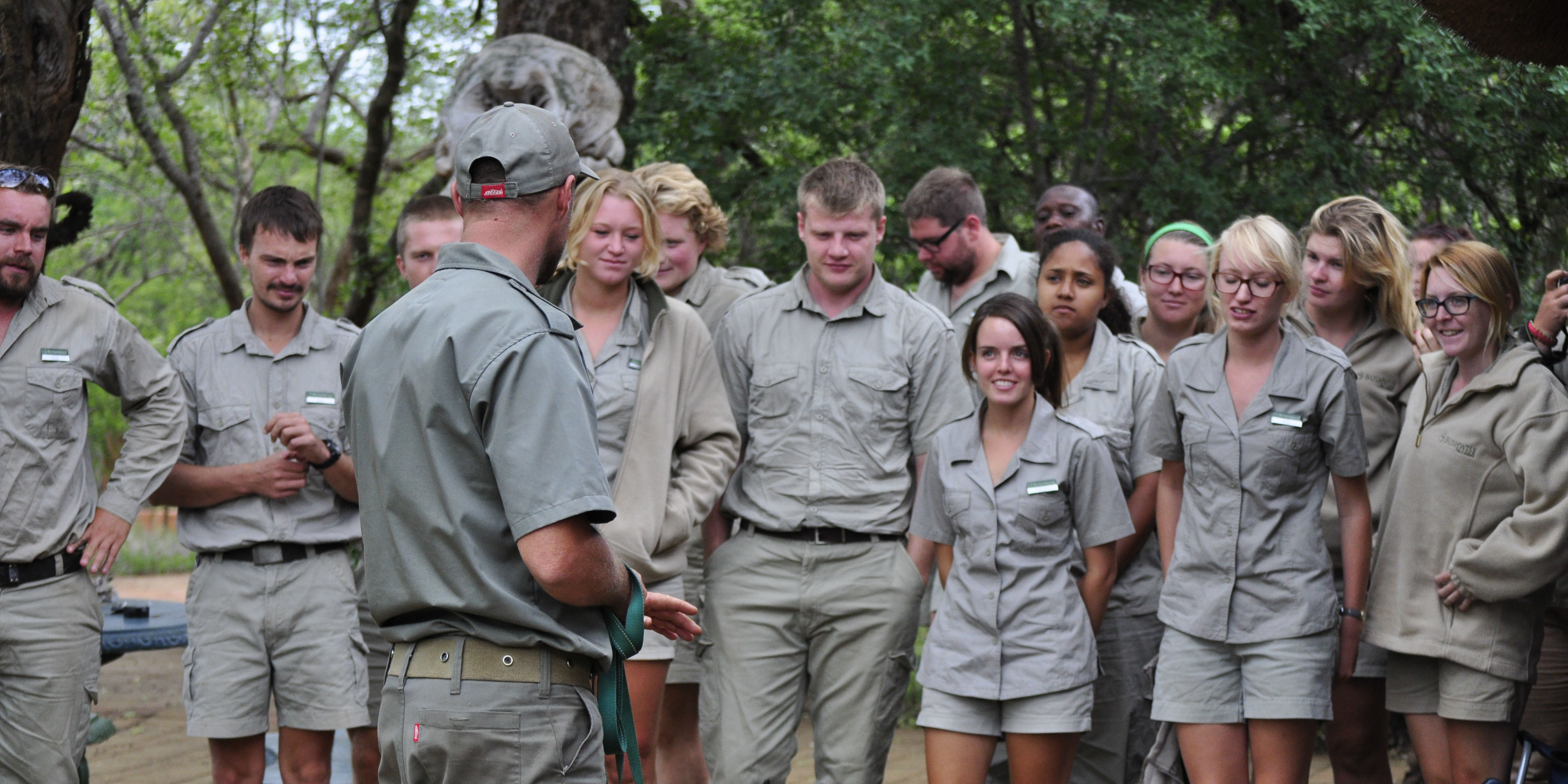 Participants complete their FGASA Field Guide Training while on their gap year.