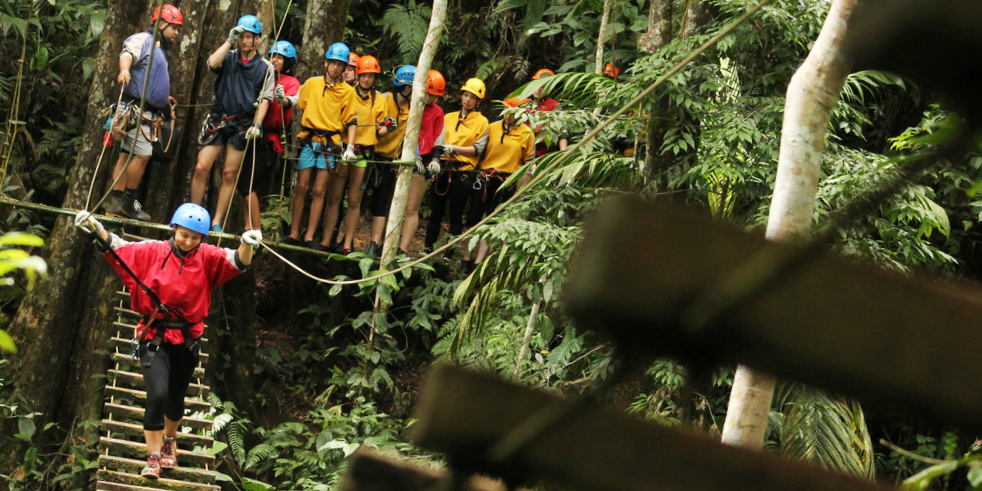 School trips abroad might include adventure opportunities.