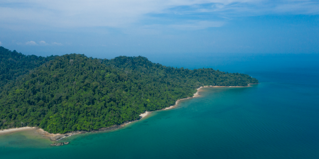 The island of Thailand from above