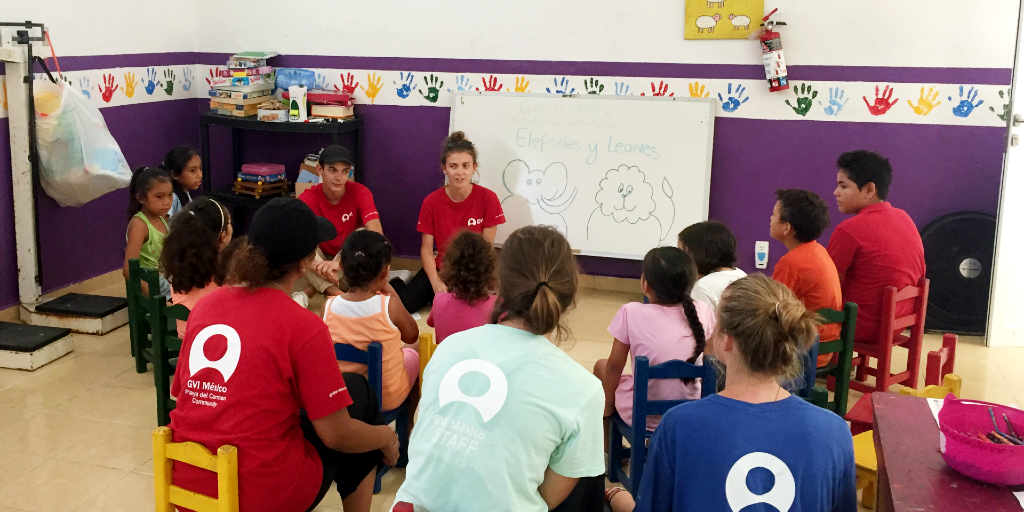 A lady learns the Spanish language by immersion and teaching.