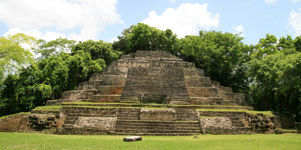 The Temple of Jaguar Masks is a cultural site you can visit in Belize.