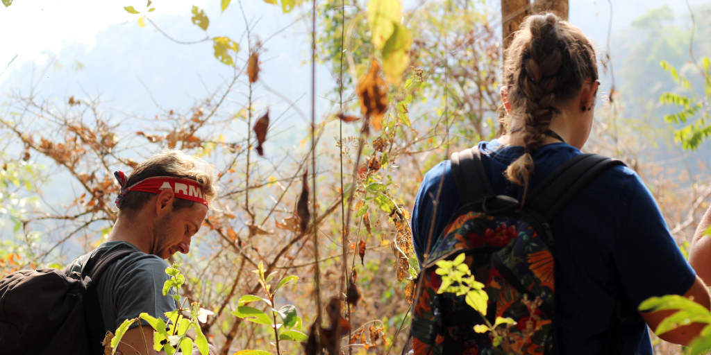 GVI volunteers on a hike in Chiang Mai, Thailand.