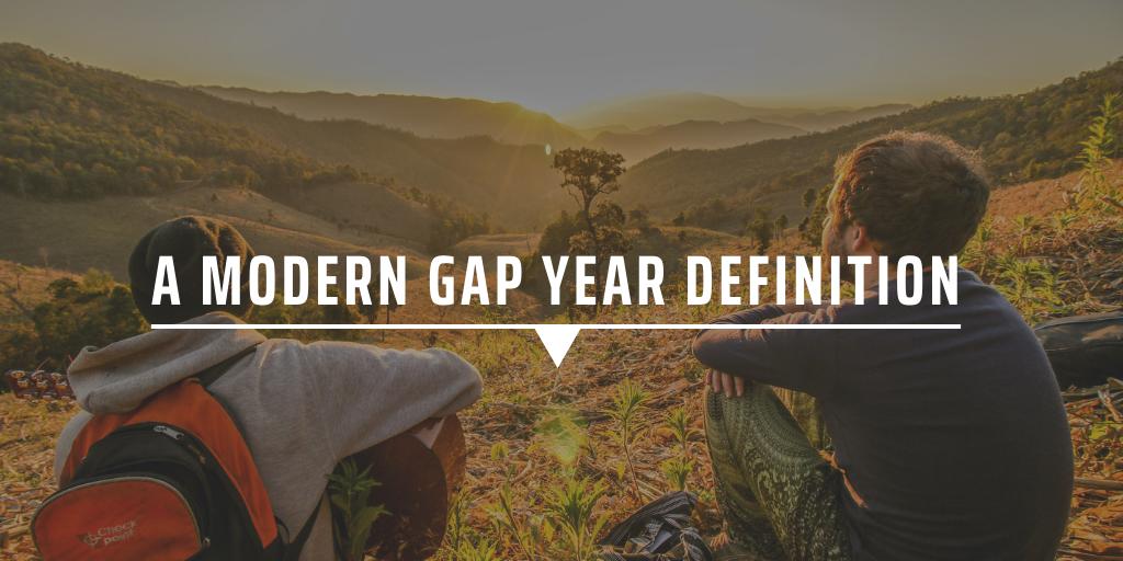 A modern gap year definition