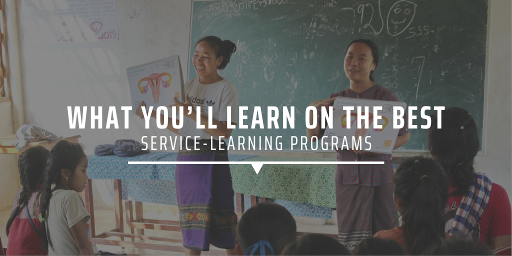 What you'll learn on the best service-learning programs
